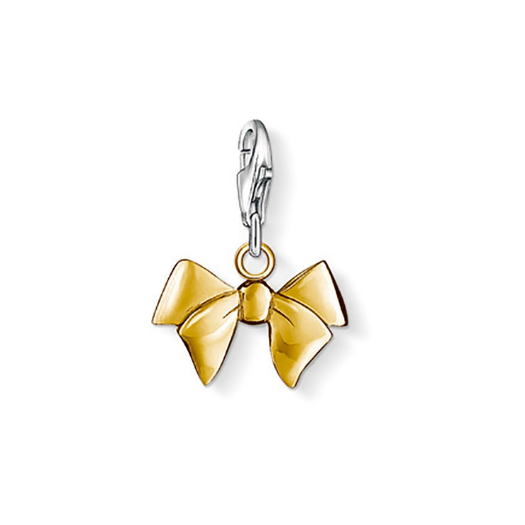 Thomas Sabo Yellow Gold Bow Charm 0964-413-12