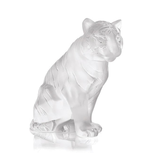 Lalique Sitting Tiger – Clear
