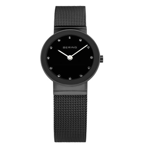 Ladies 26mm Black Pvd Stainless Steel Bering Milanese Bracelet Watch