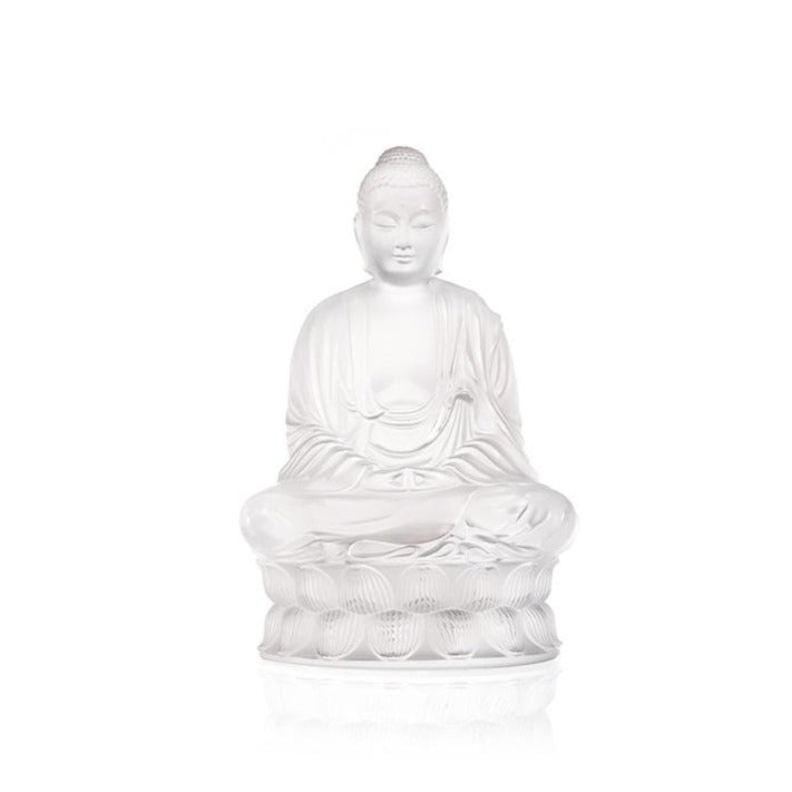 Lalique Small Buddha Sculpture - Clear
