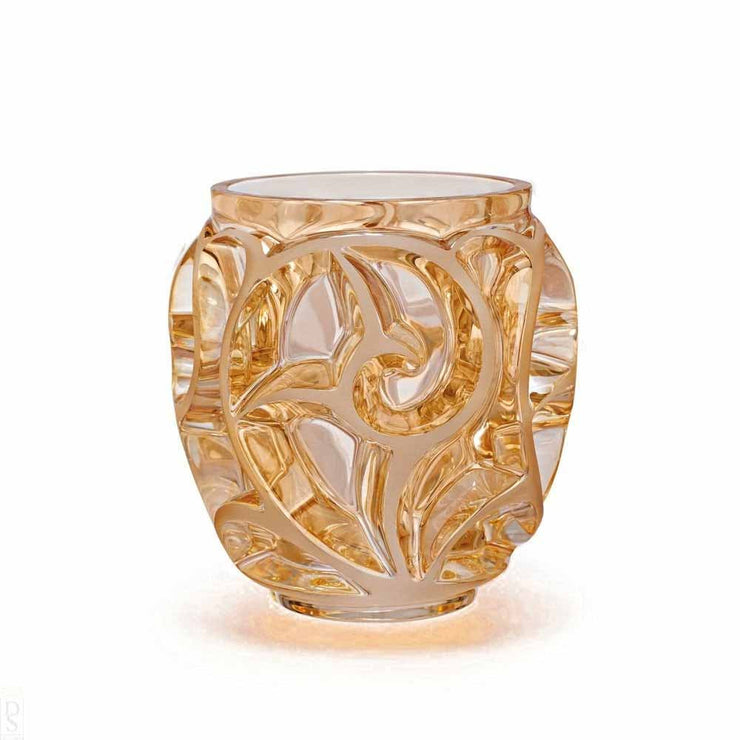Lalique Tourbillon Vase - Gold Luster