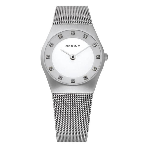 Ladies Classic 27mm Stainless Steel Bering Bracelet Watch