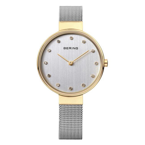 Ladies Classic 34mm 2 Tone Stainless Steel Bering Bracelet Watch