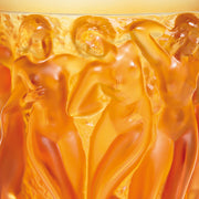Lalique Bacchantes Numbered Edition Vase - Amber