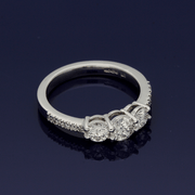 Platinum 1.02ct Diamond Trilogy Ring