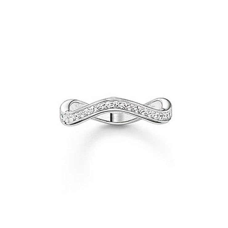Thomas Sabo Wave Stone Set Eternity Ring TR2010-051-14
