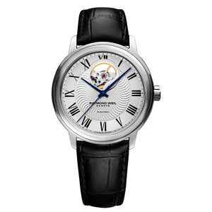 Raymond Weil Men's Maestro Automatic Leather Strap Watch, 2227-STC-65001
