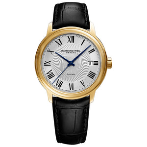 Raymond Weil Men's Maestro Automatic Leather Strap Watch, 2237-PC-00659