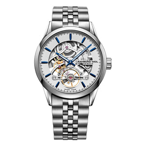 Raymond Weil Men's Freelancer Skeleton Automatic Bracelet Watch, 2785-ST-65001