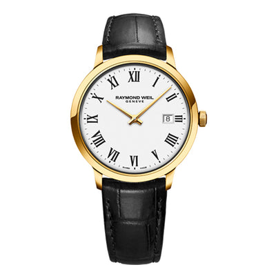 Raymond Weil Men's Toccata Classic Quartz Leather Strap Watch, 5485-PC-00300