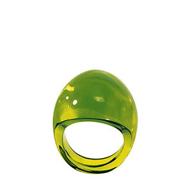 Lalique Gourmande ring - Lime Green