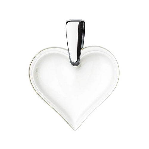 Lalique Small Heart Pendant - Clear