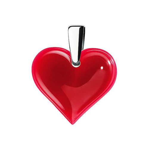 Lalique Small Heart Pendant - Red