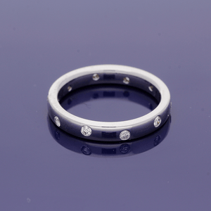 18ct White Gold and Diamond Eternity Band