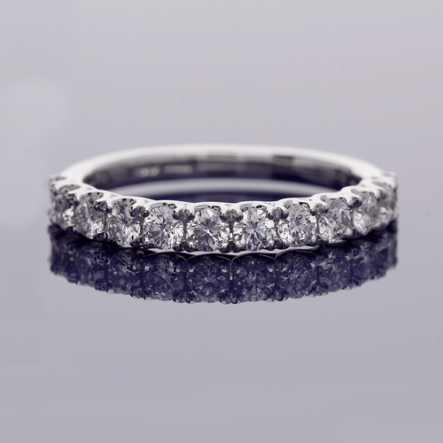 18ct White Gold and Diamond Half Eternity Ring