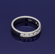 Platinum 4mm Channel Set Diamond Half Eternity Ring