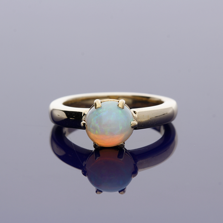 9ct Yellow Gold Opal Single Stone Ring