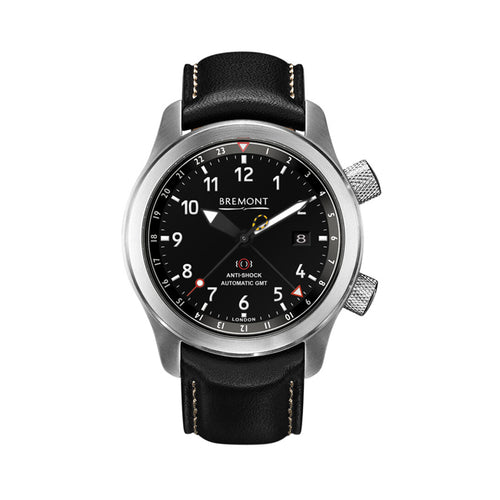 Bremont MBIII Martin Baker Men's Automatic Stainless Steel Black Leather Strap Watch, MBIII/OR