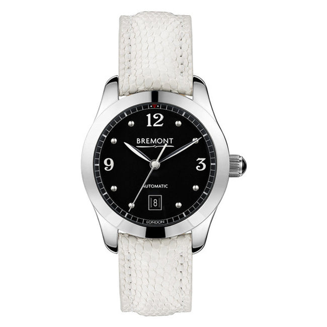 Bremont SOLO-32 Ladies Automatic White Leather Strap Watch, SOLO-32/AJ