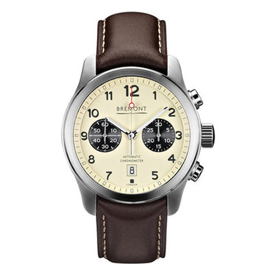 Bremont ALT1-C Men's Automatic Chronograph Brown Leather Strap Watch, ALT1-C/CR