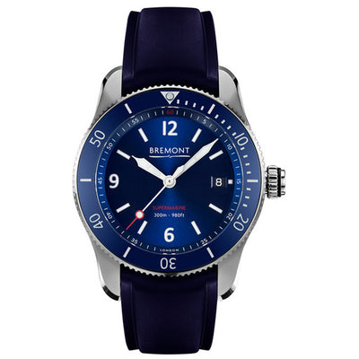 Bremont Supermarine S300 Men's Automatic Divers Rubber Strap Watch, S300/BL