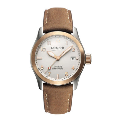Bremont SOLO-37 Ladies Automatic Broen Nubuck Strap Watch, SOLO-37/RG