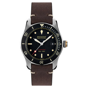Bremont Supermarine S301 Men's Automatic Brown Vintage Leather Strap Watch, S301/BK