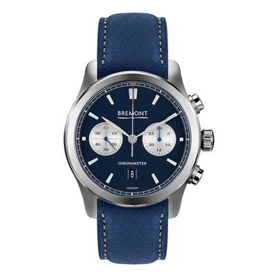 Bremont ALT1-C Men's Automatic Chronograph Blue Nubuck Strap Watch, ALT1-C/BL