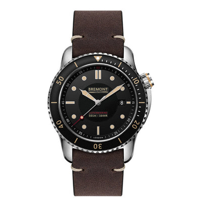 Bremont Supermarine Type 501 Men's Automatic Brown Leather Strap Watch, S501