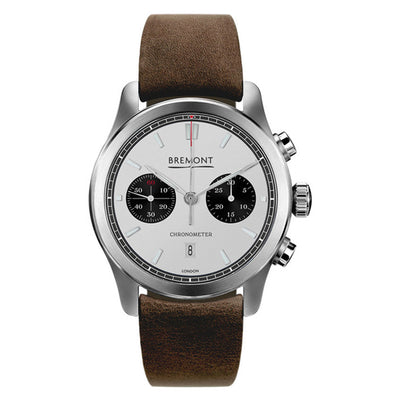 Bremont ALT1-C Men's Automatic Chronograph Brown Leather Strap Watch, ALT1-C/WH-BK/R