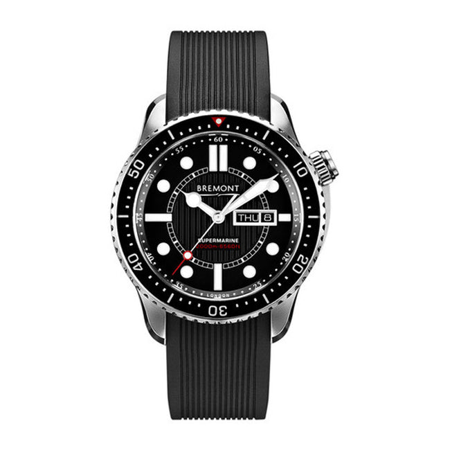 Bremont Supermarine S2000 Men's Automatic Rubber Strap Watch, S2000-BK