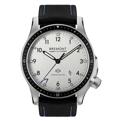 Bremont Boeing BB1 Men's Automatic Black Strap Watch, BB1-SS/WH