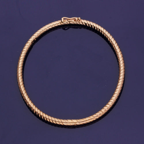 9ct Rose Gold Twisted Bangle
