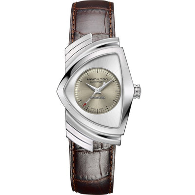 Hamilton Ventura Automatic Leather Strap Watch, H24515581