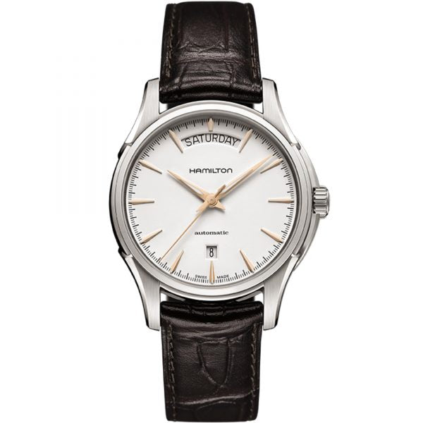 Hamilton Jazzmaster Day Date Automatic Leather Strap Watch, H32505511