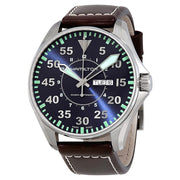 Hamilton Khaki Aviation Pilot Day Date Automatic Leather Strap Watch, H64715545