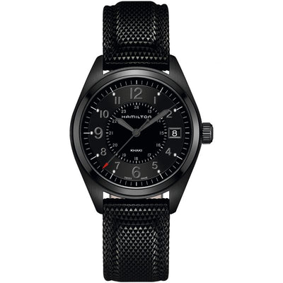 Hamilton Khaki Field Quartz Textured Strap Watch, H68401735