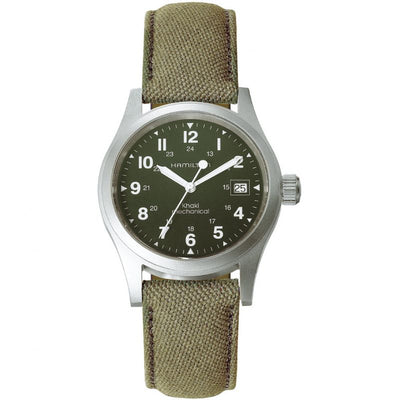 Hamilton Khaki Field Mechanical Fabric Strap Watch, H69439363