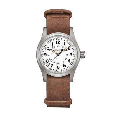 Hamilton Khaki Field Mechanical Nato Leather Strap Watch, H69439511