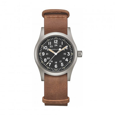Hamilton Khaki Field Mechanical Nato Leather Strap Watch, H69439531