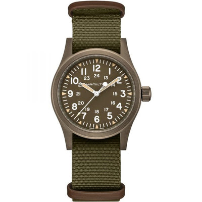Hamilton Khaki Field Mechanical Nato Fabric Strap Watch, H69449961