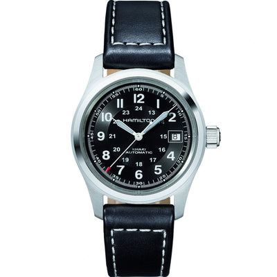 Hamilton Khaki Field Automatic Leather Strap Watch, H70455733