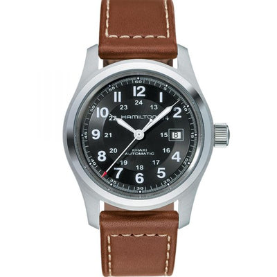 Hamilton Khaki Field Automatic Leather Strap Watch, H70555533