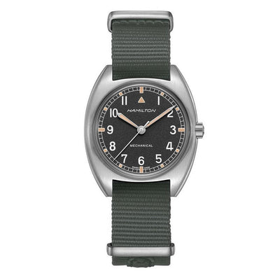 Hamilton Khaki Aviation Pilot Pioneer Mechanical Fabric Strap Watch, H76419931