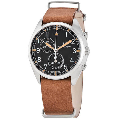 Hamilton Khaki Aviation Pilot Pioneer Chronograph Quartz Strap Watch, H76522531