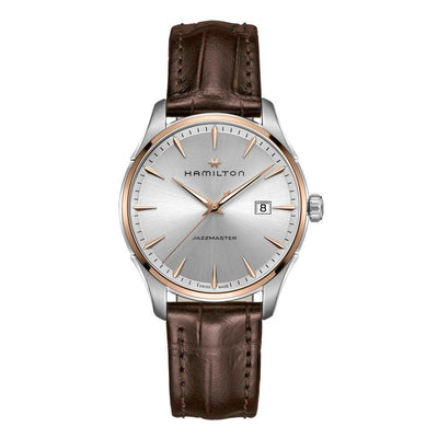 Hamilton Jazzmaster Quartz Leather Strap Watch, H32441551