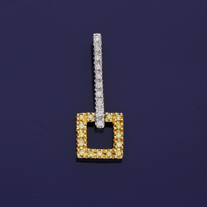 18ct White Gold and 18ct Yellow Gold White and Yellow Diamond Pendant