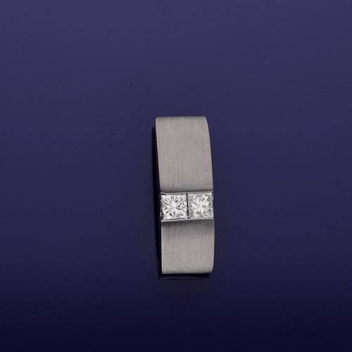 18ct White Gold and Diamond Pendant