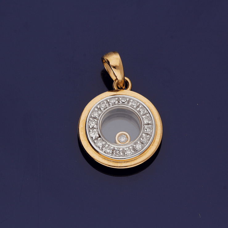 18ct Rose Gold Floating Diamond Pendant