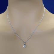 18ct White Gold Certificated 0.50ct Diamond Pendant